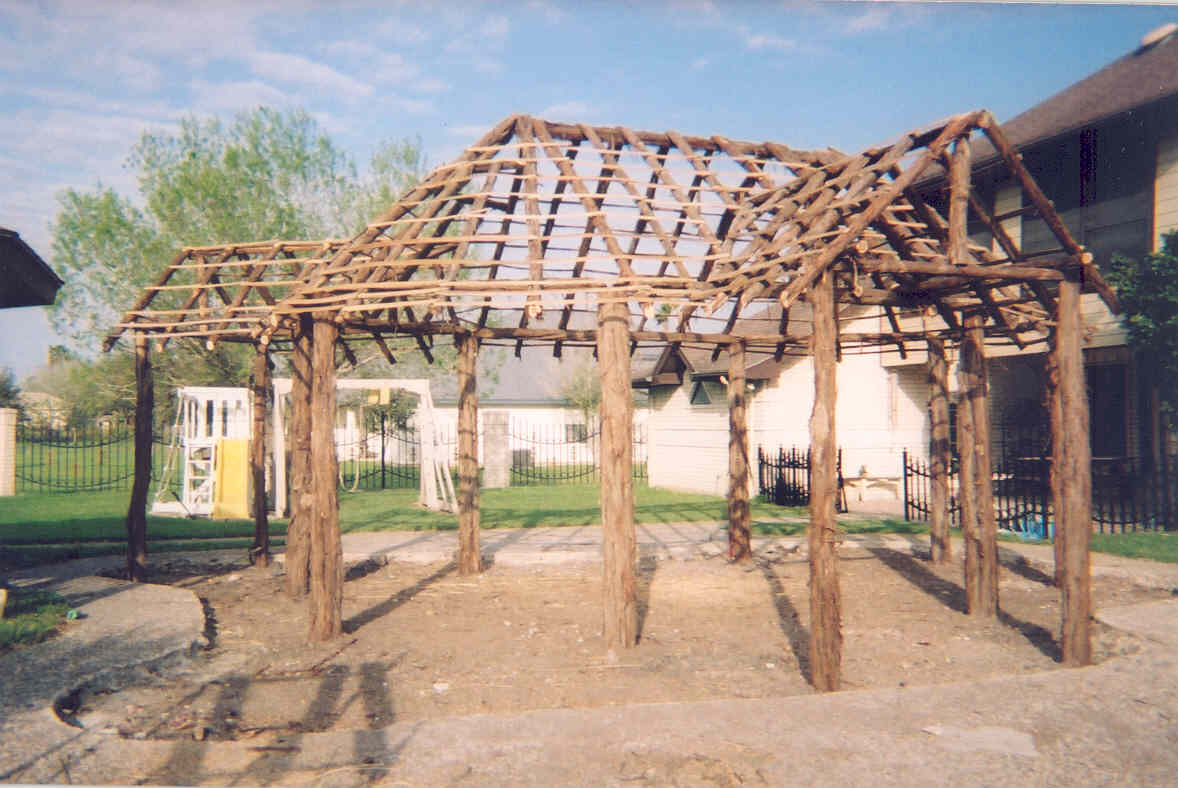 How to Build a Tiki Bar Tiki Bar Construction Tropical Backyards