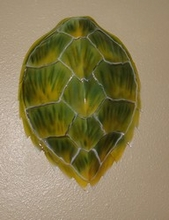 "16"" Hawksbill Turtle Shell Half Mount Replica"