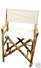 2 Bamboo Directors Tropical Tiki  Chairs