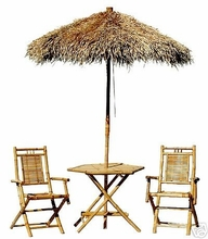 BAMBOO UMBRELLA BISTRO SET