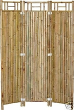 Room Divider Asian Bamboo 3 Panel Screen