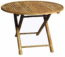 Round  Coffe Zen Bamboo Table