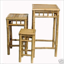3 Piece Square Bamboo Stolls or Nesting Plant Stands
