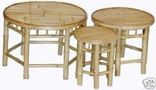 Round 3 Piece Nesting Plant Stands or Bamboo Stools