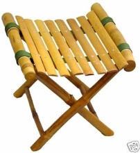 Foot Rest Bamboo Folding Footstool Stand