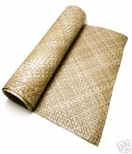 Lauhala Matting Cabana Wall Covering With FIRE RETARDANT<br>4ft x 8ft