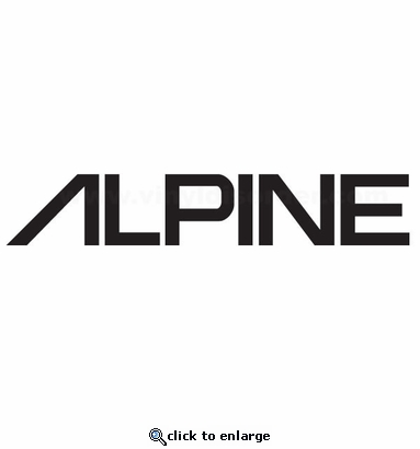Alpine 2 car audio vinyl decal stickers