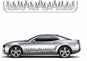 Flames Flame car flames Vinyl Decal Sticker Stickers MC02