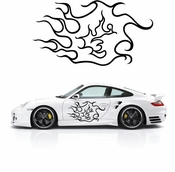 Flames Flame car flames Vinyl Decal Sticker Stickers MC04