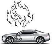 Flames Flame car flames Vinyl Decal Sticker Stickers MC09