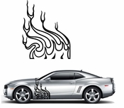 Flames Flame car flames Vinyl Decal Sticker Stickers MC10