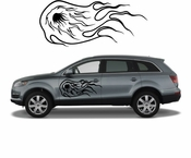 Flames Flame car flames Vinyl Decal Sticker Stickers MC12