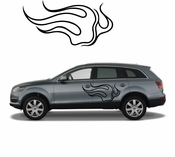 Flames Flame car flames Vinyl Decal Sticker Stickers MC13