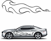Flames Flame car flames Vinyl Decal Sticker Stickers MC15