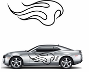 Flames Flame car flames Vinyl Decal Sticker Stickers MC16