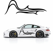 Flames Flame car flames Vinyl Decal Sticker Stickers MC18