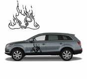 Flames Flame car flames Vinyl Decal Sticker Stickers MC20