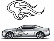 Flames Flame car flames Vinyl Decal Sticker Stickers MC25