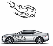 Flames Flame car flames Vinyl Decal Sticker Stickers MC26