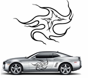 Flames Flame car flames Vinyl Decal Sticker Stickers MC27
