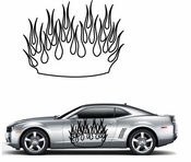 Flames Flame car flames Vinyl Decal Sticker Stickers MC28