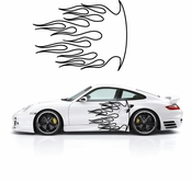 Flames Flame car flames Vinyl Decal Sticker Stickers MC33