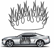 Flames Flame car flames Vinyl Decal Sticker Stickers MC35