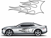 Flames Flame car flames Vinyl Decal Sticker Stickers MC39
