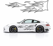 Flames Flame car flames Vinyl Decal Sticker Stickers MC42