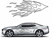 Flames Flame car flames Vinyl Decal Sticker Stickers MC43