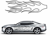 Flames Flame car flames Vinyl Decal Sticker Stickers MC44