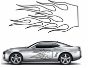 Flames Flame car flames Vinyl Decal Sticker Stickers MC45