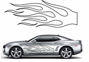 Flames Flame car flames Vinyl Decal Sticker Stickers MC46