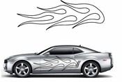 Flames Flame car flames Vinyl Decal Sticker Stickers MC47