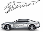 Flames Flame car flames Vinyl Decal Sticker Stickers MC50