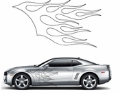 Flames Flame car flames Vinyl Decal Sticker Stickers MC55