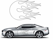 Flames Flame car flames Vinyl Decal Sticker Stickers MC62