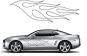 Flames Flame car flames Vinyl Decal Sticker Stickers MC63