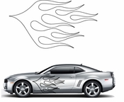 Flames Flame car flames Vinyl Decal Sticker Stickers MC67