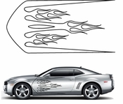 Flames Flame car flames Vinyl Decal Sticker Stickers MC80