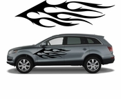 Flames Flame car flames Vinyl Decal Sticker Stickers MC113