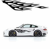 Flames Flame car flames Vinyl Decal Sticker Stickers MC142