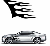 Flames Flame car flames Vinyl Decal Sticker Stickers MC156