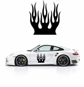 Flames Flame car flames Vinyl Decal Sticker Stickers MC159