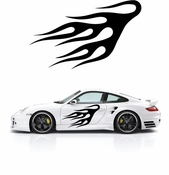 Flames Flame car flames Vinyl Decal Sticker Stickers MC160