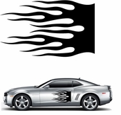 Flames Flame car flames Vinyl Decal Sticker Stickers MC164