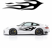 Flames Flame car flames Vinyl Decal Sticker Stickers MC177