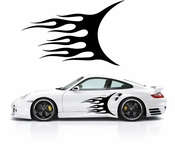 Flames Flame car flames Vinyl Decal Sticker Stickers MC178