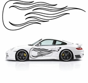 Flames Flame car flames Vinyl Decal Sticker Stickers MC183