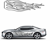 Flames Flame car flames Vinyl Decal Sticker Stickers MC214